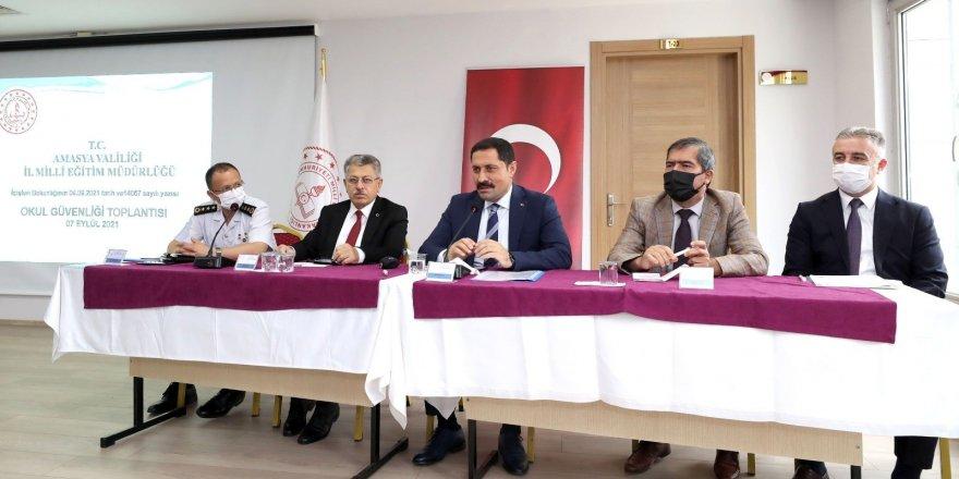 Amasya'da okullardaki güvenlik tedbirleri masaya yatırıldı