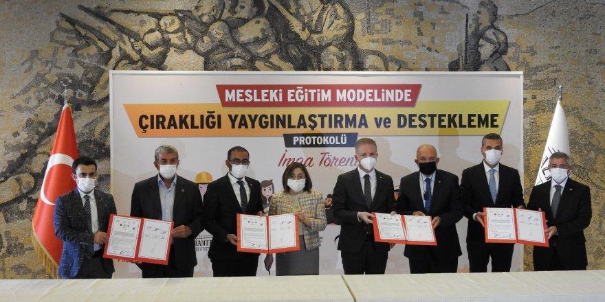 Gaziantep'te çıraklığı yaygınlaştırmak için protokol imzalandı
