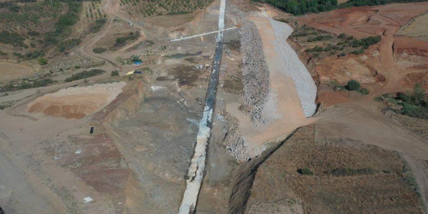Ekonomiye iki milyon lirayı aşkın katkı sağlayacak Lalapaşa Göleti'nde çalışmalar devam ediyor