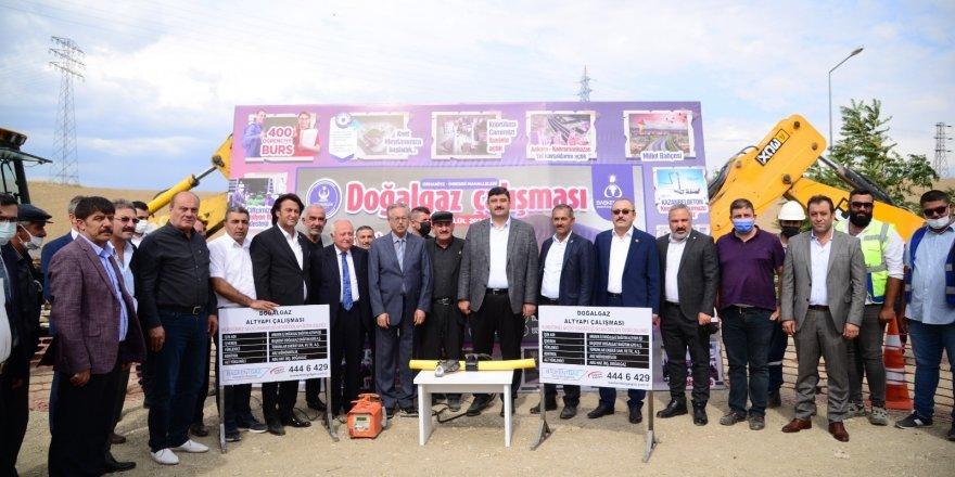 İmrendi ve Orhaniye'de doğalgaz için ilk adım