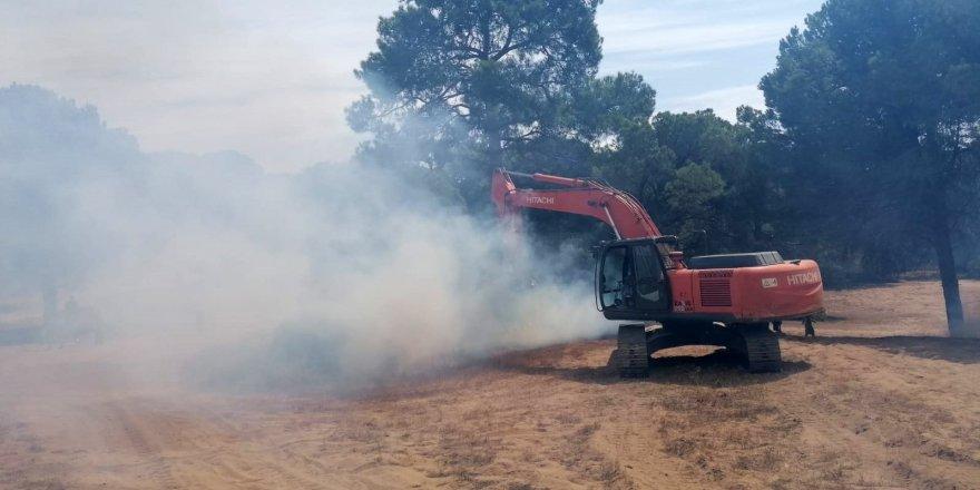 Manavgat'ta orman yangını çıktı !