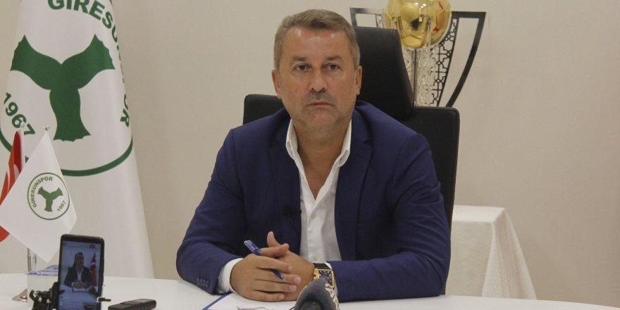 """Giresunspor Kulüp Başkanı Hakan Karaahmet: """"Biz sonuna kadar devam edeceğiz, mücadele edeceğiz"""""""