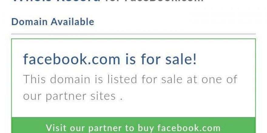 Facebook alan adı satışa çıktı