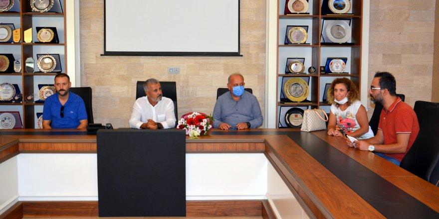 Yabancı öğretmenlerden Başkan sözen'e ziyaret