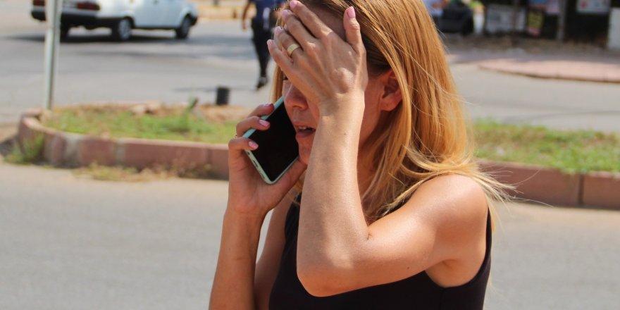 Kaza yapan Kırgız kadının yaralı üzüntüsü